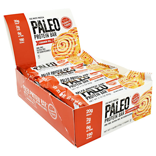 Julian Bakery Paleo Protein Bar - Cinnamon Roll - 12 Bars - 813926002801