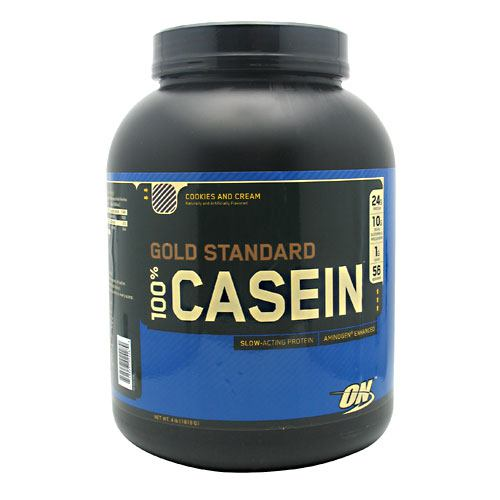 Optimum Nutrition Gold Standard 100% Casein - Cookies and Cream - 4 lb - 748927024289