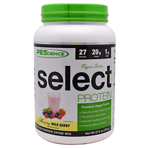 PEScience Vegan Series Select Protein - Amazing Wild Berry - 27 Servings - 040232426384