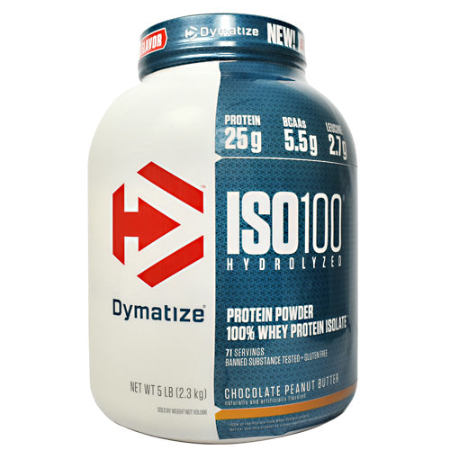Dymatize ISO100 - Chocolate Peanut Butter - 5 lb - 705016353552