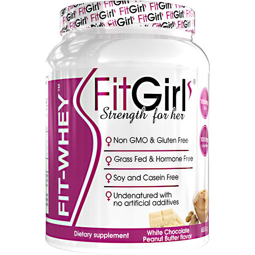 Fit Girl Fit-Whey - White Chocolate Peanut Butter - 23 Servings - 895524000670