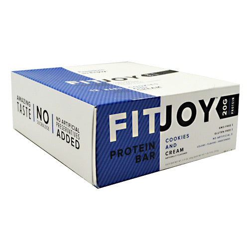 FitJoy Nutrition FitJoy Bar - Cookies and Cream - 12 Bars - 842595100167