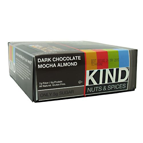 Kind Snacks Kind Nuts & Spices - Dark Chocolate Mocha Almond - 12 Bars - 602652171819