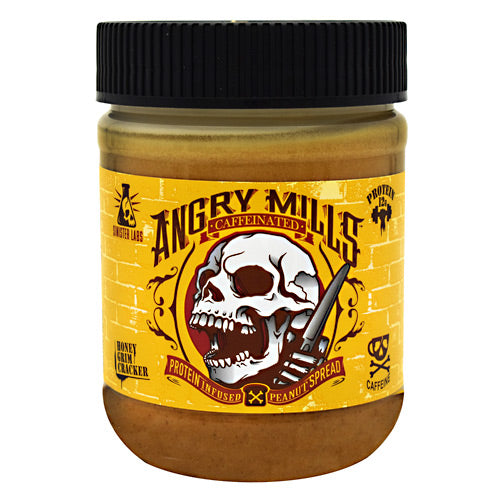 Sinister Labs Caffeinated Angry Mills Peanut Spread - Honey Grim Cracker - 12 oz - 853698007178