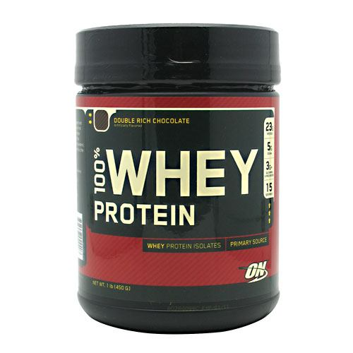 Optimum Nutrition 100% Whey Protein - Double Rich Chocolate - 1 lb - 748927022407