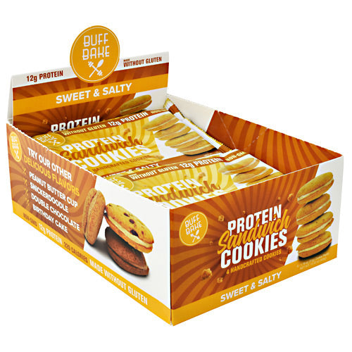 Buff Bake Protein Sandwich Cookies - Sweet and Salty - 8 ea - 854570007545