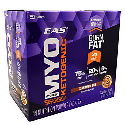 EAS Myoplex Ketogenic - Cinnamon Bun - 14 Packets - 791083662468