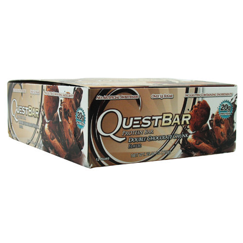 Quest Nutrition Quest Protein Bar - Double Chocolate Chunk - 12 Bars - 888849000241