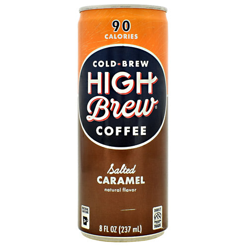 High Brew Coffee Cold Brew High Brew Coffee RTD - Salted Caramel - 12 Cans - 10854560005022