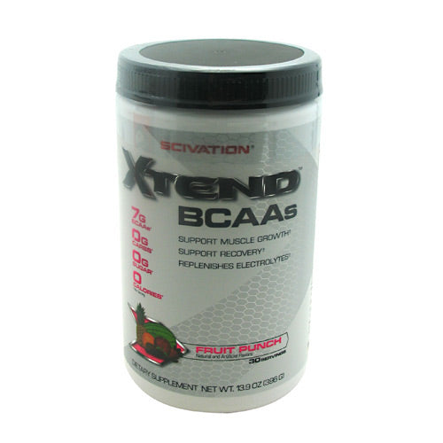 Scivation Xtend - Fruit Punch - 30 Servings - 812135020286