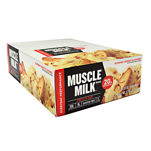 Cytosport Red Muscle Milk Bar - Almond Cookie - 12 Bars - 660726525111