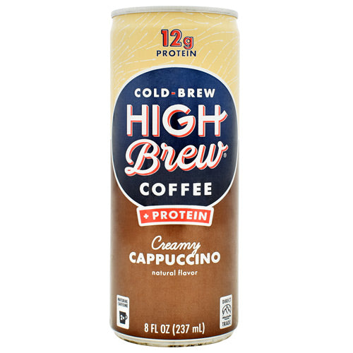 High Brew Coffee Cold Brew Coffee + Protein RTD - Creamy Cappuccino - 12 Cans - 10854560005602
