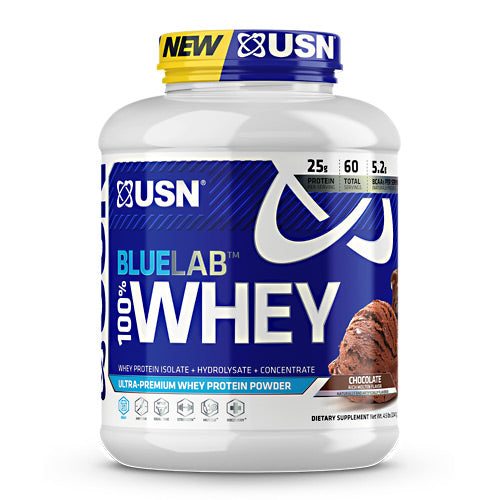 USN Blue Lab 100% Whey - Molten Chocolate - 4.5 lb - 6009706099466
