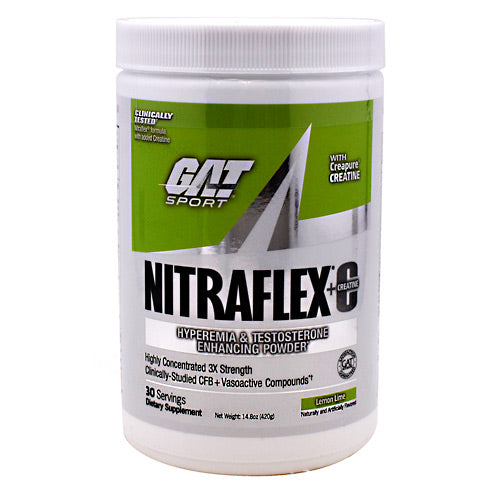 GAT Nitraflex - Lemon Lime - 30 Servings - 816170021482