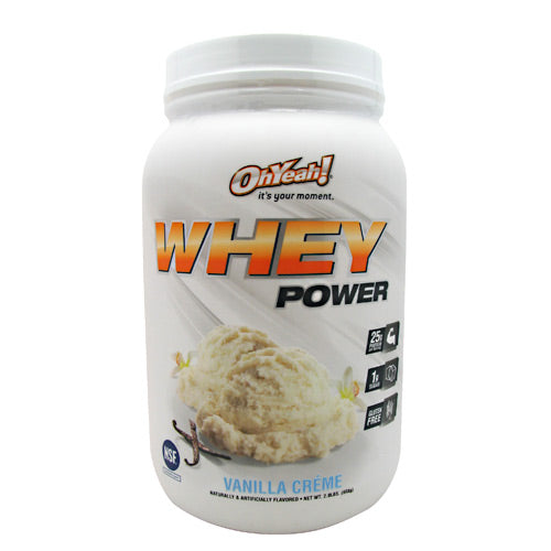 ISS Research Oh Yeah! Whey Power - Vanilla Creme - 2 lb - 788434108614