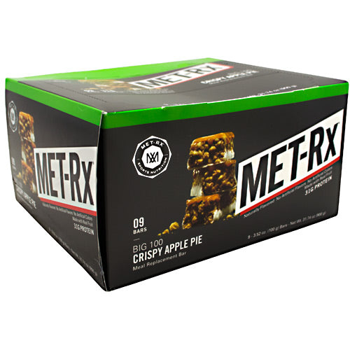 MET-Rx Big 100 Colossal - Crispy Apple Pie - 9 Bars - 786560557023