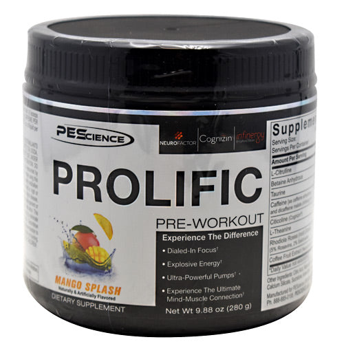 PEScience Prolific - Mango Splash - 9.88 oz - 040232426445