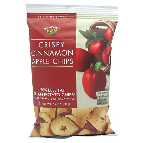 Good Health Apple Chips - Crispy Cinnamon - 12 ea - 10755355001062