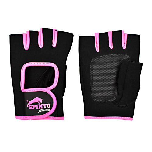 Spinto Fitness Womens Workout Glove - Black and Pink, S -   - 636655966103