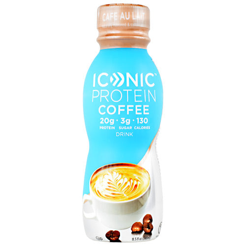 Iconic Protein Coffee Iconic Protein Drink - Cafe Au Lait - 12 Bottles - 853650004221