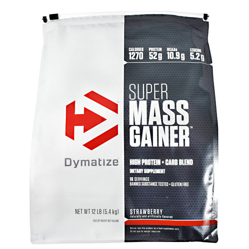 Dymatize Super Mass Gainer - Strawberry - 12 lb - 705016331543