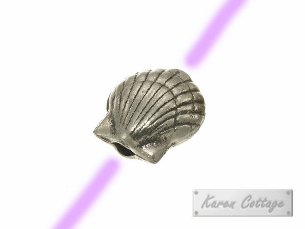Karen Hill Tribe Silver Deep Sea ARK Shell Bead : B22-023