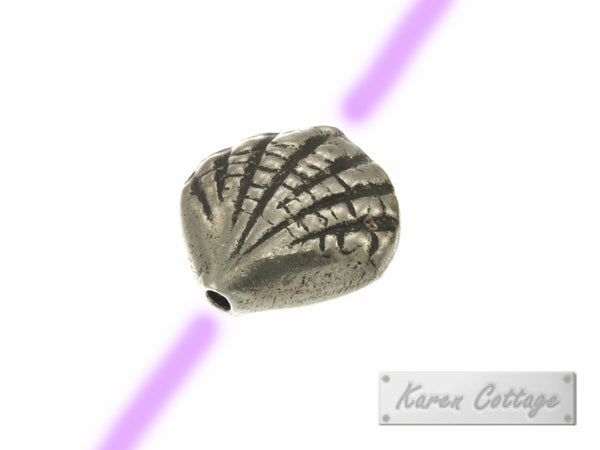 Karen Hill Tribe Silver Deep Sea ARK Shell Bead : B22-024