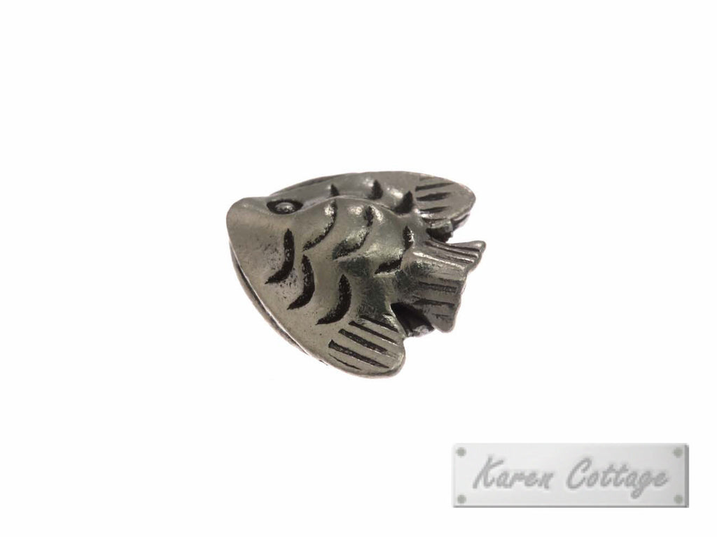 Karen Hill Tribe Silver Young Fish Bead : B22-201