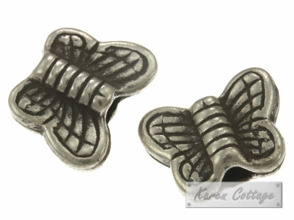 Karen Hill Tribe Silver Tiny Printed Butterfly Bead : B23-002