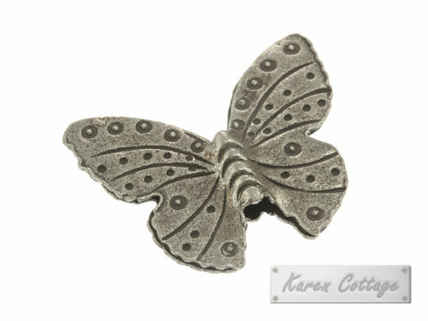Karen Hill Tribe Silver Angle Butterfly Bead : B23-014