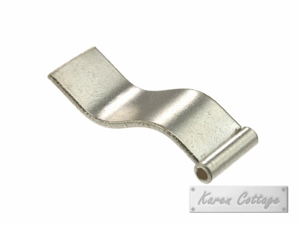 Karen Hill Tribe Silver Plain Rectangle Flag Bead : B32-206