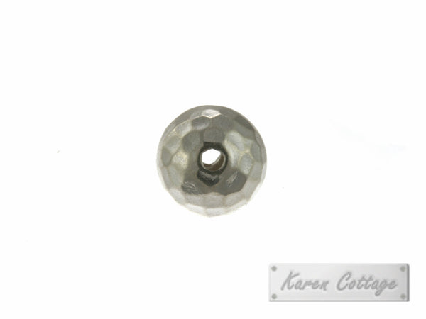 Karen Hill Tribe Silver Hammered Ball Bead : B33-001