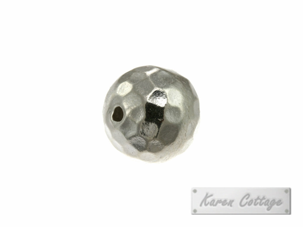 Karen Hill Tribe Silver Hammered Ball Bead : B33-002