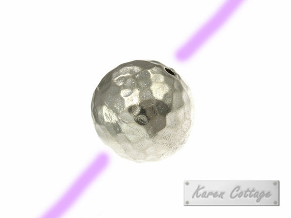 Karen Hill Tribe Silver Hammered Ball Bead : B33-004