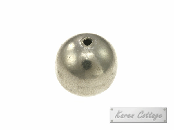 Karen Hill Tribe Silver Plain Silver Ball Bead : B33-007
