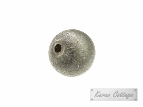 Karen Hill Tribe Silver Brushed Ball Bead : B33-013