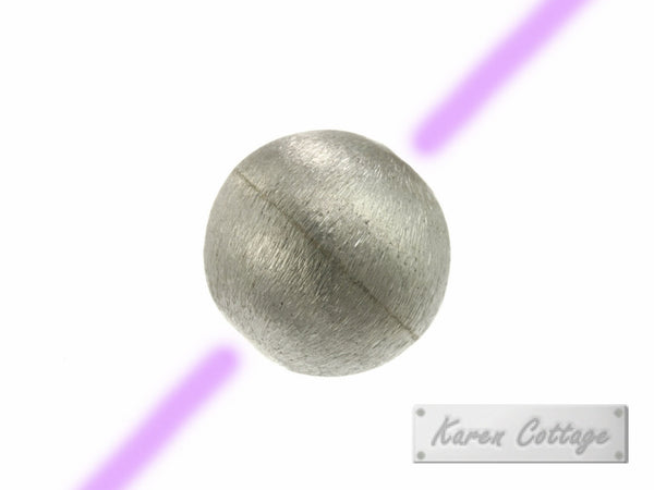 Karen Hill Tribe Silver Brushed Ball Bead : B33-014