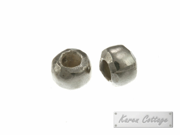 Karen Hill Tribe Silver Plain Hallow Ball Bead : B33-101