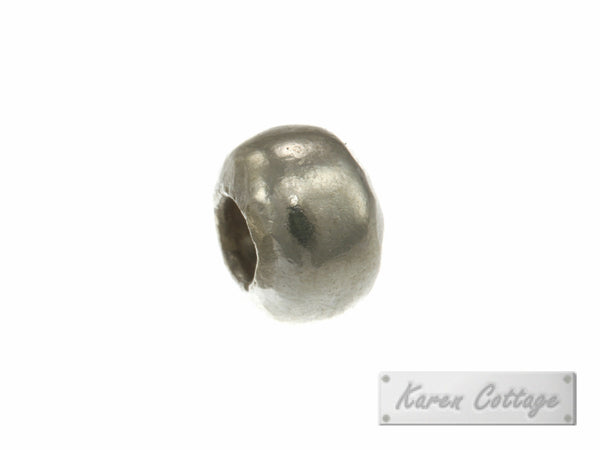 Karen Hill Tribe Silver Plain Hallow Ball Bead : B33-102