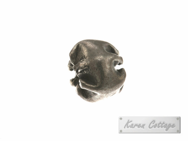 Karen Hill Tribe Silver Plain Tribal Pleat Bead : B37-002
