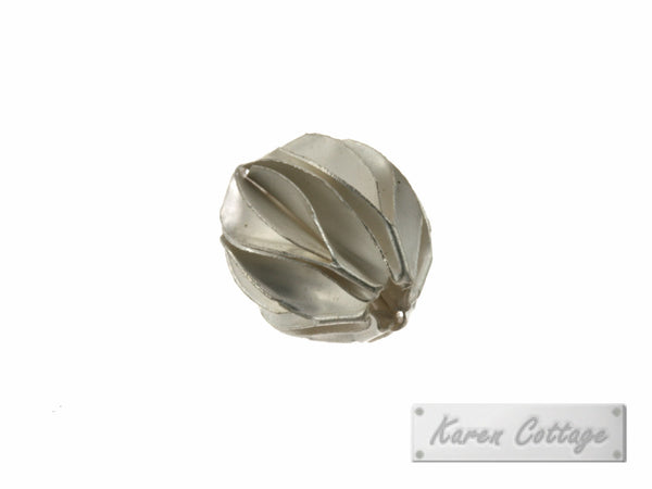 Karen Hill Tribe Silver Flat Assembly Bead : B37-103
