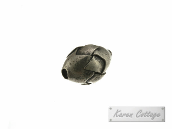 Karen Hill Tribe Silver Diamond Shape Tribal Bead : B42-024