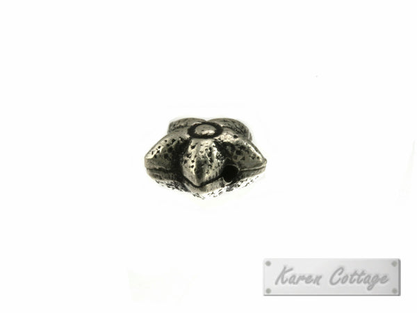 Karen Hill Tribe Silver Tribal Star-Shape Bead : B44-130