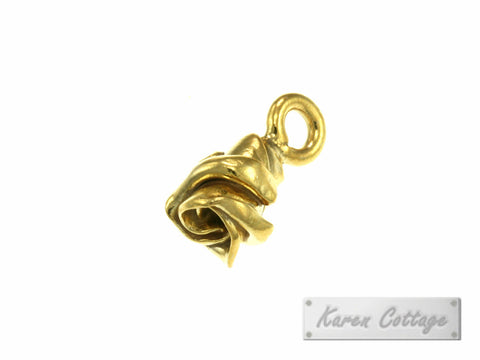 Karen Hill Tribe Silver Budding Rose Charm : C11-004G