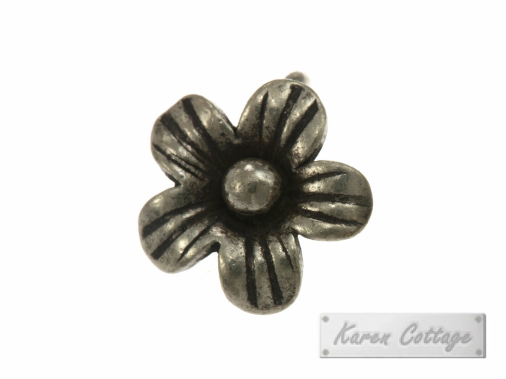 Karen Hill Tribe Silver Young Daisy Flower Charm : C11-024