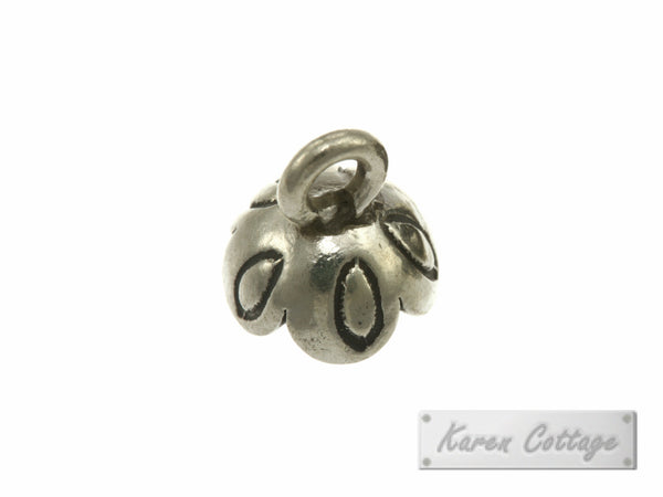 Karen Hill Tribe Silver Young Daisy Flower Charm : C11-076