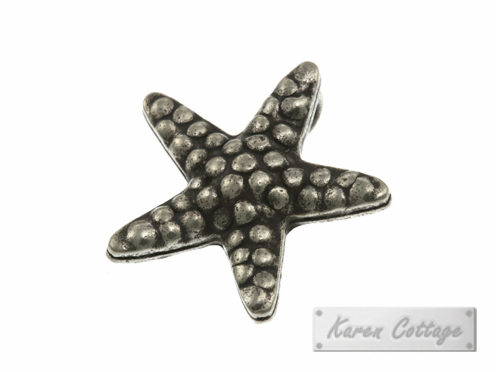 Karen Hill Tribe Silver Starfish Charm (back ring) : C22-105
