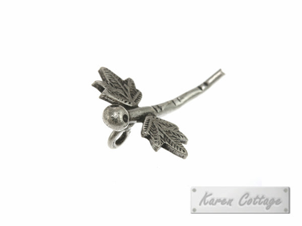 Karen Hill Tribe Silver Leaf Wing Dragonfly Charm : C23-007