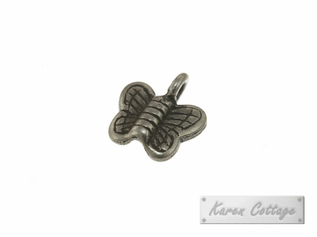 Karen Hill Tribe Silver Young Butterfly Charm : C23-012
