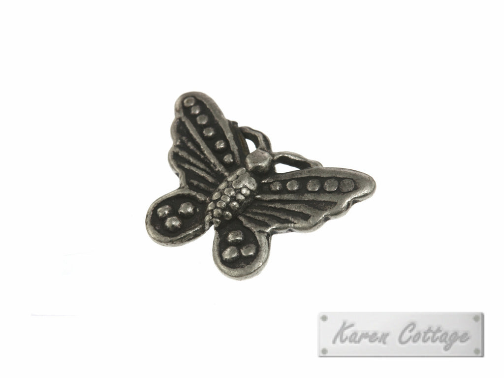 Karen Hill Tribe Silver Wild Forest Butterfly Charm : C23-015